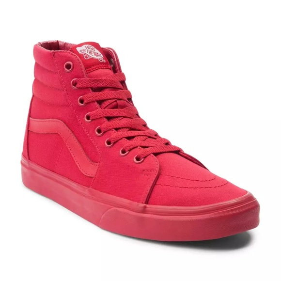 fcabe8c852 Vans Solid Red High Top. M 5ad2b6833afbbdd8047003d7